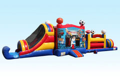 49-Foot sports combo inflatable obstacle course in Daytona Beach, FL