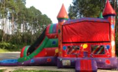Balloon Castle Wet Slip-n-Slide in Daytona Beach, FL