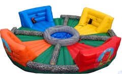 Human Hungry Hippos inflatable party game rental in Daytona Beach