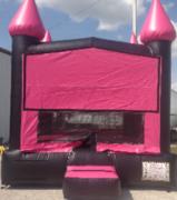 Neon pink black bouncer bounce house rental in Daytona Beach, FL