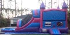 Purple Pink Castle Water Slip-n-Slide in Daytona Beach, FL