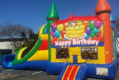 Rainbow Happy Birthday Combo Wet Slip-n-Slide in Daytona Beach, FL
