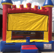Red Blue Yellow castle bouncer bounce house rental in Daytona Beach, FL