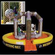 Wrecking Ball Interactive inflatable party game rental in Daytona Beach